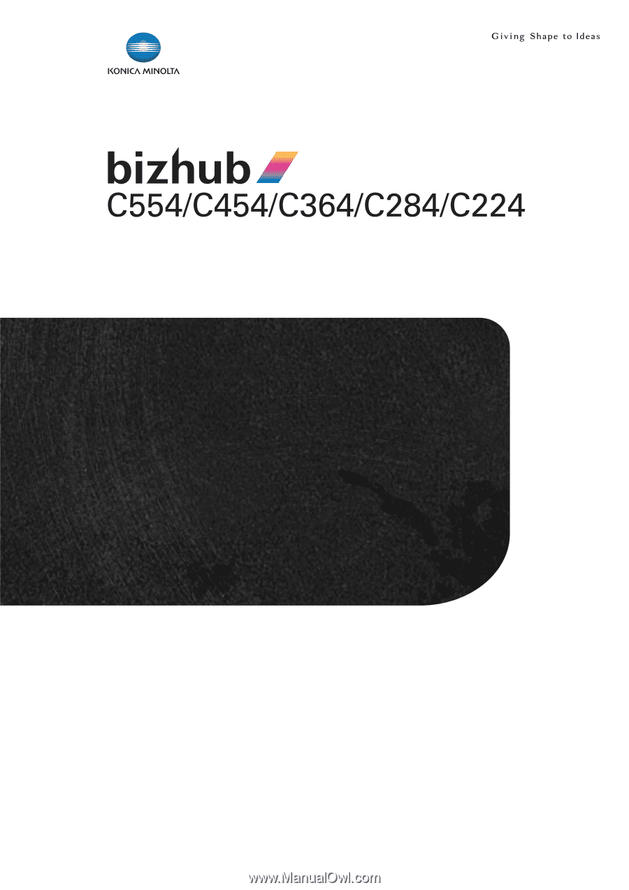 Konica Minolta bizhub C454   bizhub C554/C454/C364/C284/C224