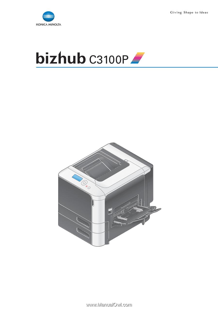 Konica Minolta bizhub C3100P   bizhub C3100P Description of Utility Keys