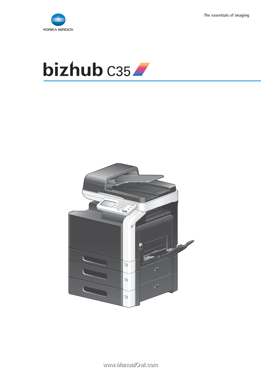 konica minolta bizhub c35 bizhub c35 security operations user guide rh manualowl com bizhub c35 printer/copier/scanner user guide konica minolta c35 user guide
