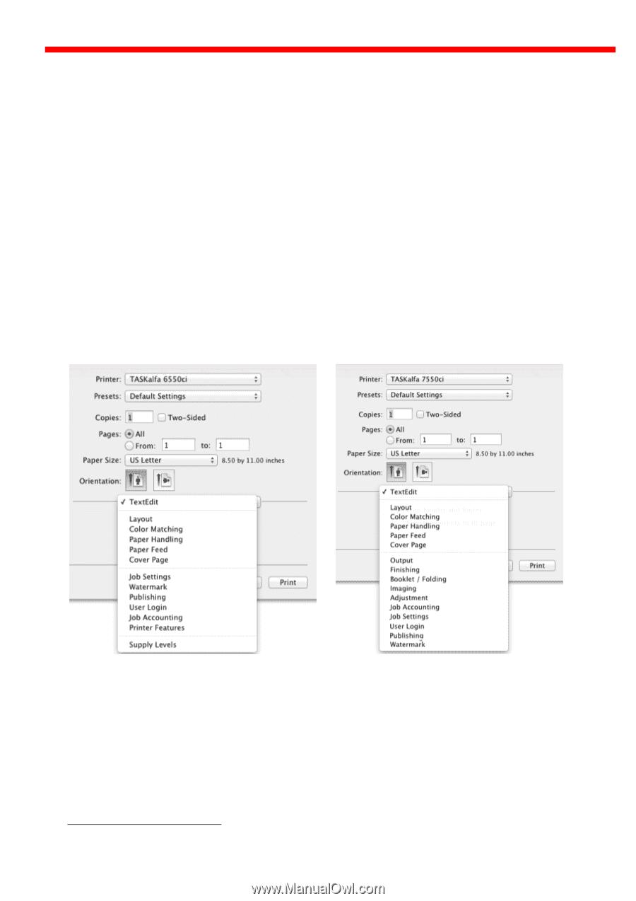 Kyocera ECOSYS FS-C8520MFP   Kyocera MAC Driver 3 Software