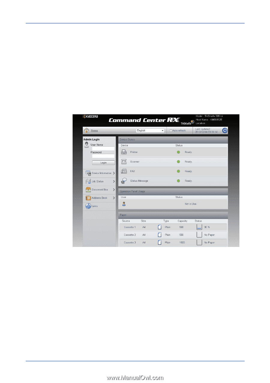 Kyocera ECOSYS M3550idn   Kyocera Command Center RX User Guide Rev