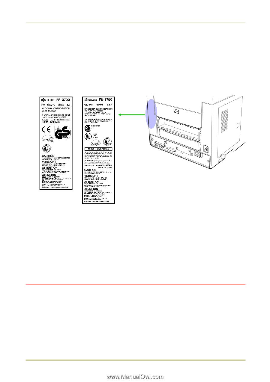 Laser notice