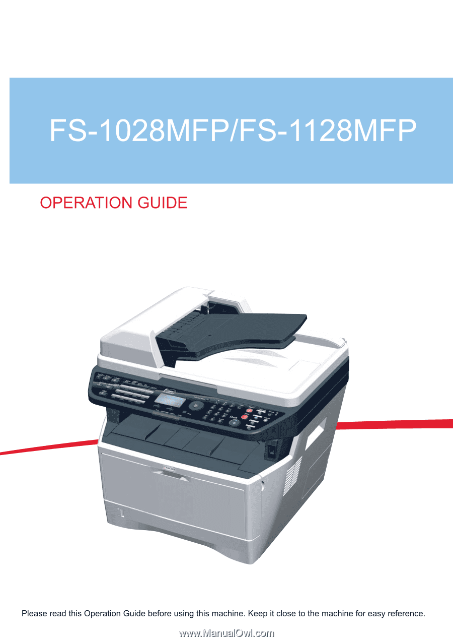 kyocera fs 1128mfp multifunction printer service repair manual parts list