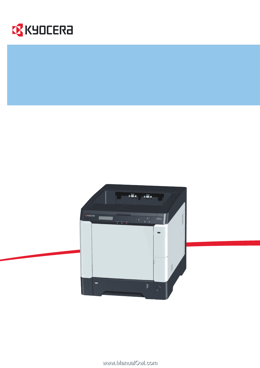 Kyocera FS-C5150DN | FS-C5150DN/5250DN Operation Guide