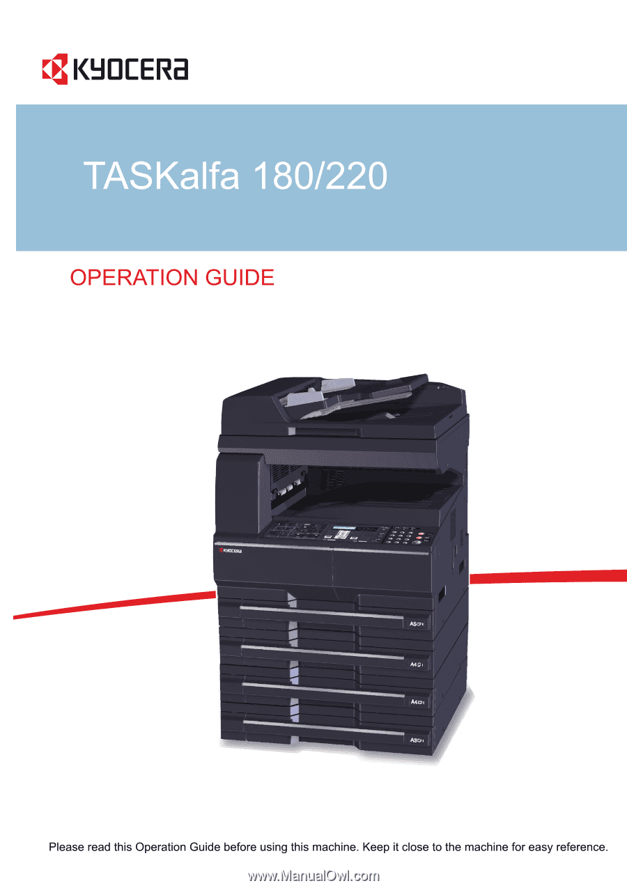 Kyocera TASKalfa 180 | 180/220 Operation Guide Rev-2