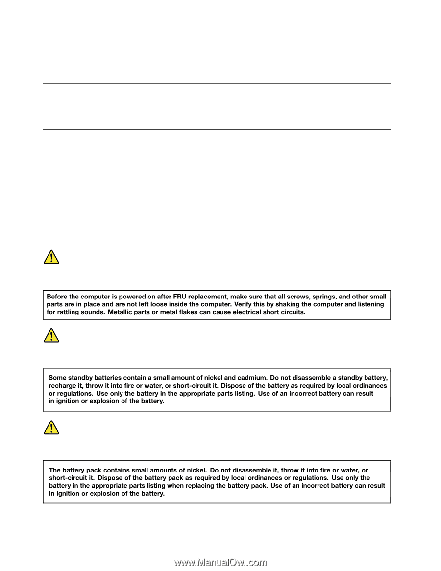 Lenovo ThinkPad W541   (English) Hardware Maintenance Manual