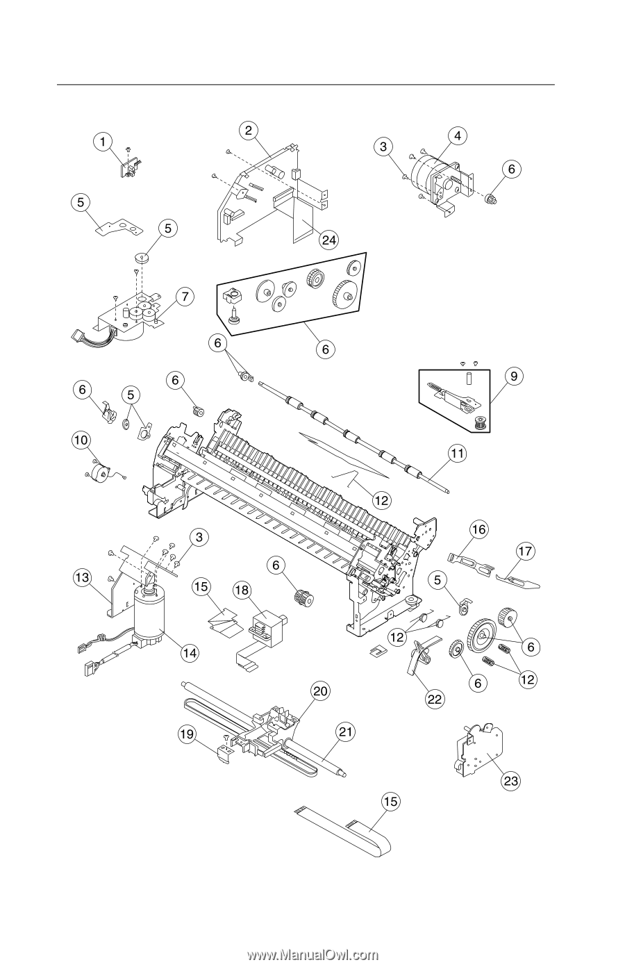 Lexmark 40X3055 TRACTOR SHAFT KIT