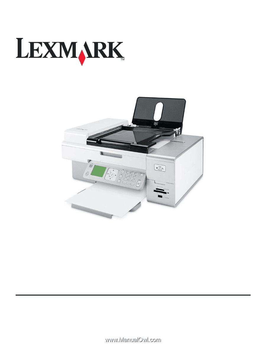 lexmark printer x7550 manual