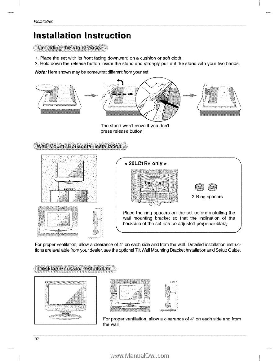 lg 20lc1r owners manual page 16 rh manualowl com LG Cell Phone Operating Manual LG Cell Phone Operating Manual
