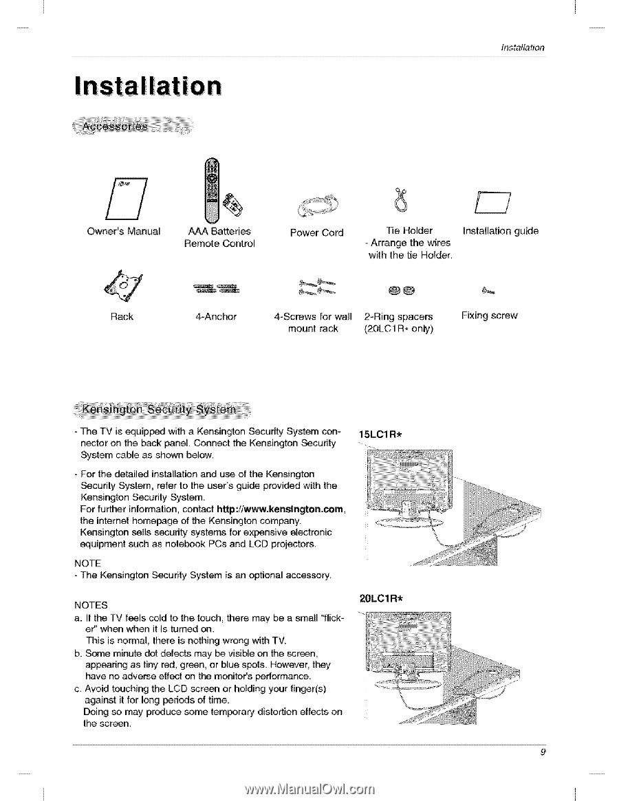 lg 20lc1r owners manual page 16 rh manualowl com LG Phones Manual LG Instruction Manual