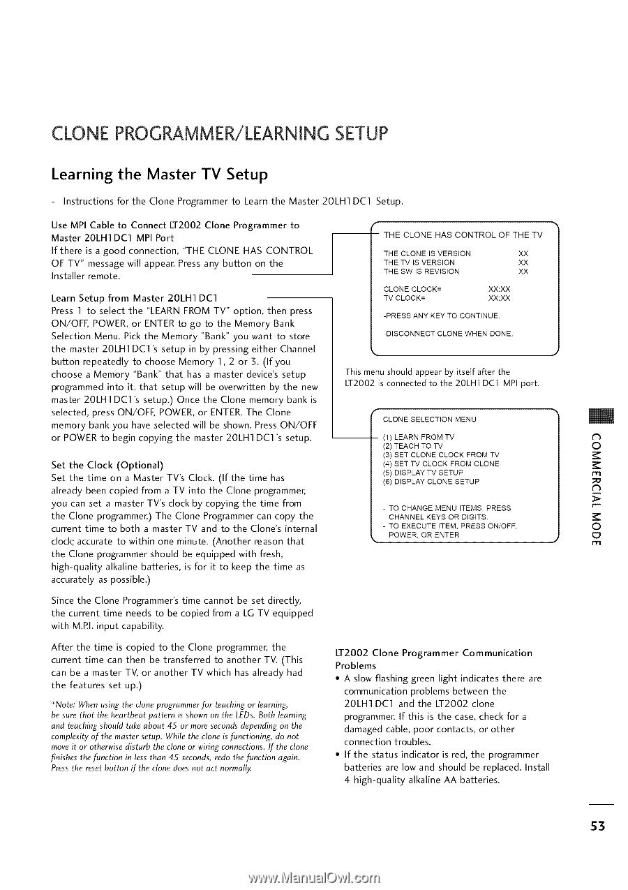 LG 20LH1DC1 | Operation Guide - Page 53