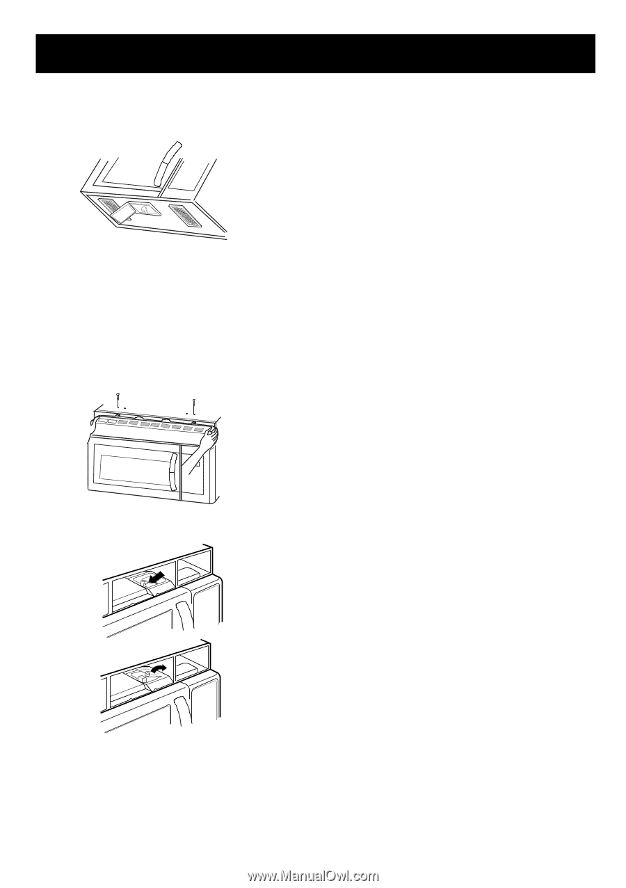 Lg Lmv1680st Owners Manual English Page 26 Microwave Oven Wiring Diagram Maintenance Light Replacement