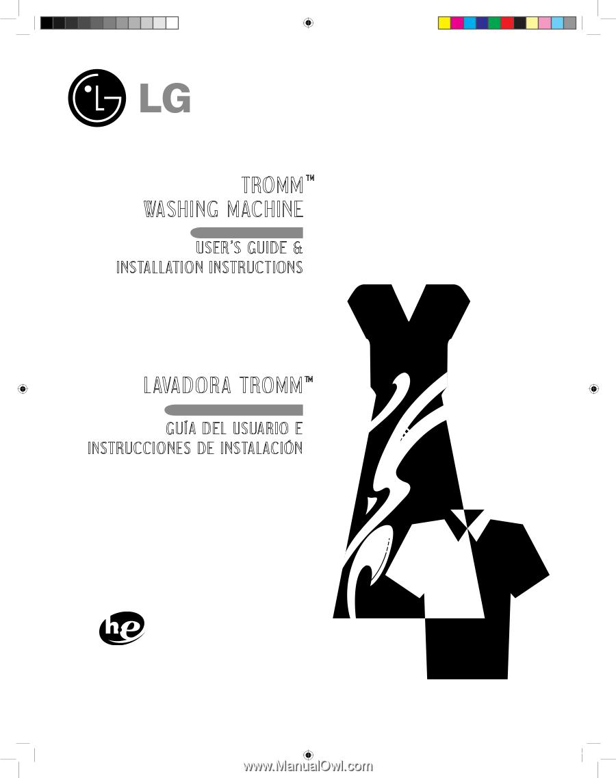 lg wm2455hg owner s manual english rh manualowl com WM2455HG Parts LG Washer Model WM2455HG