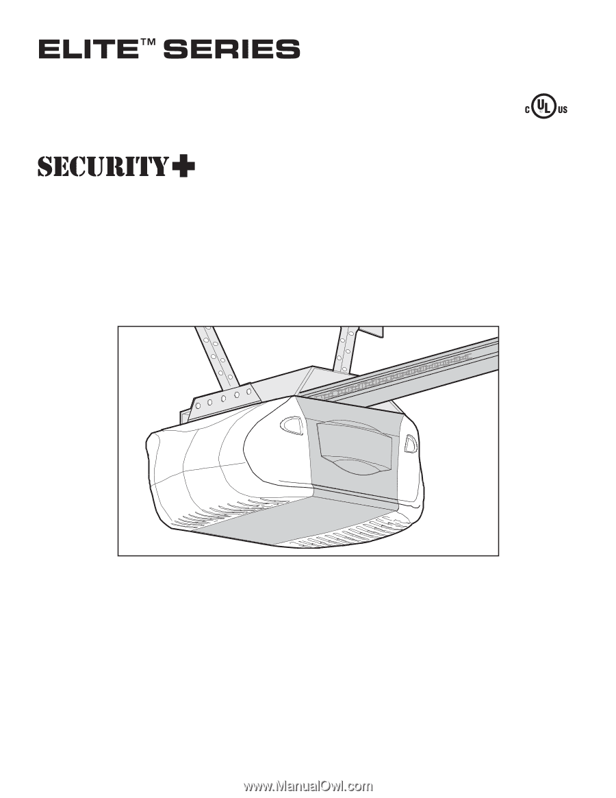 Liftmaster 3595 3595 Elite Series Manual