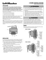 liftmaster 850lm 850lm 3 channel universal receiver manual rh manualowl com Chamberlain Garage Door Sensor Wiring Lift Master Garage Door Opener Wiring-Diagram