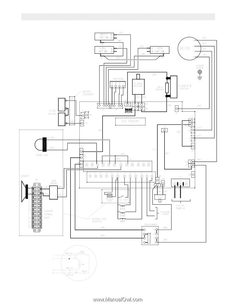 Liftmaster Dh Dj Logic 2 Addendum Manual Wiring Diagram 1 Phase Fdob5011