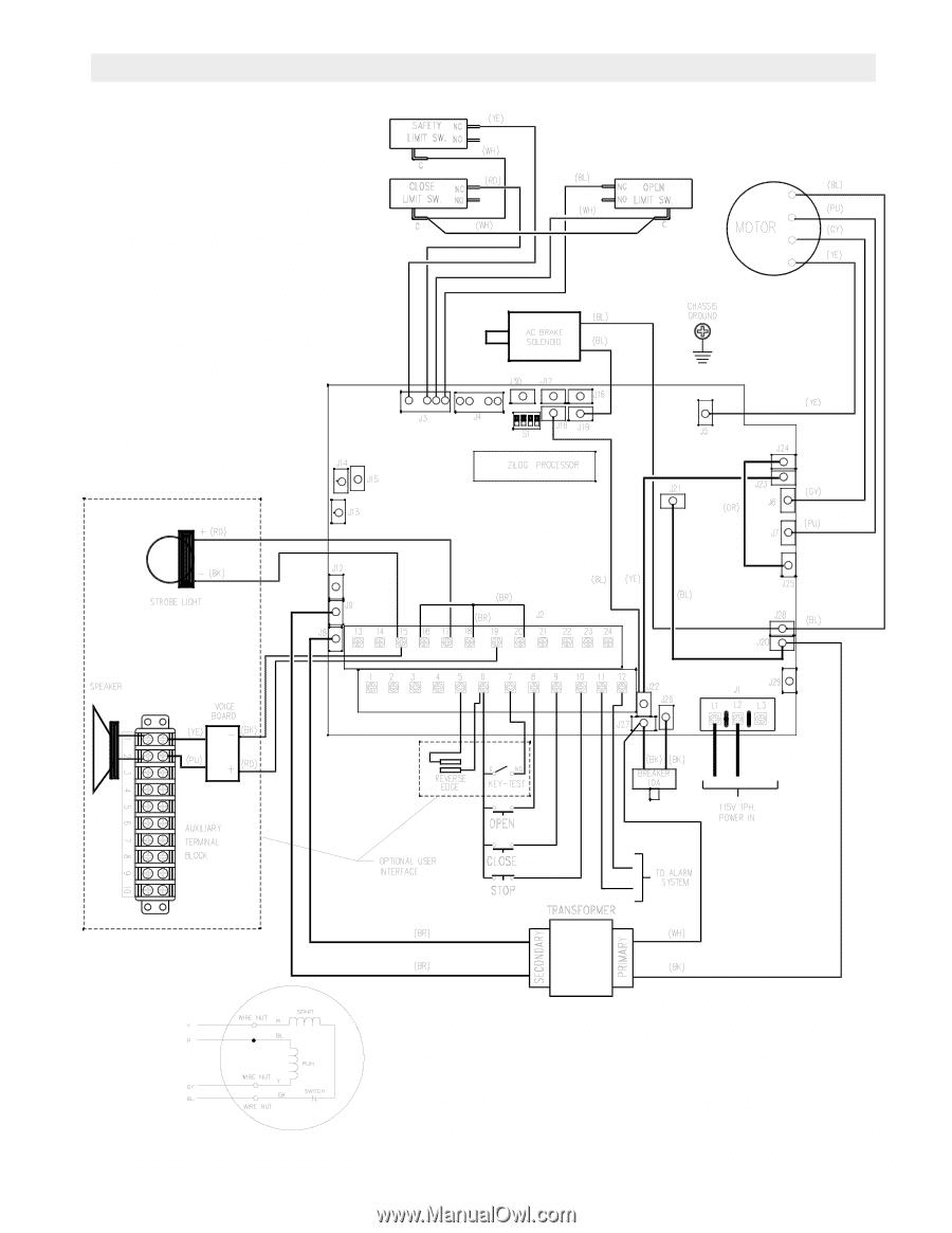 Liftmaster Dj Logic 2 Addendum Manual Wiring Diagram 1 Phase Fdoa5011