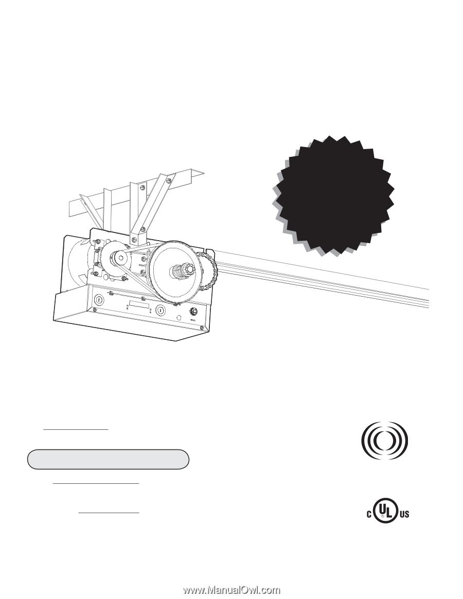 Liftmaster Mt Mt5011e Installation Manual Lift Master Garage Door Eye Wiring Diagram Serial