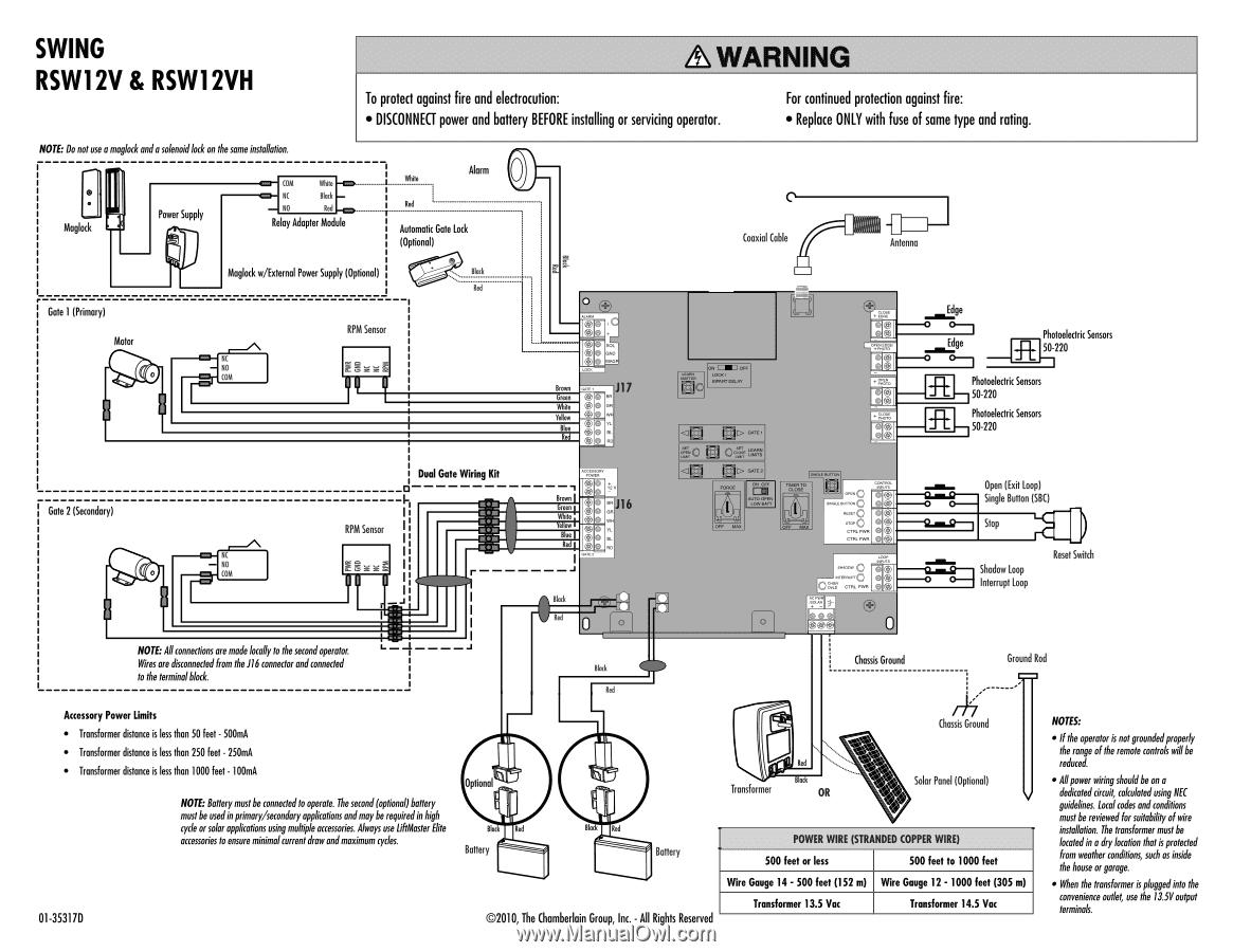 liftmaster rsl12v