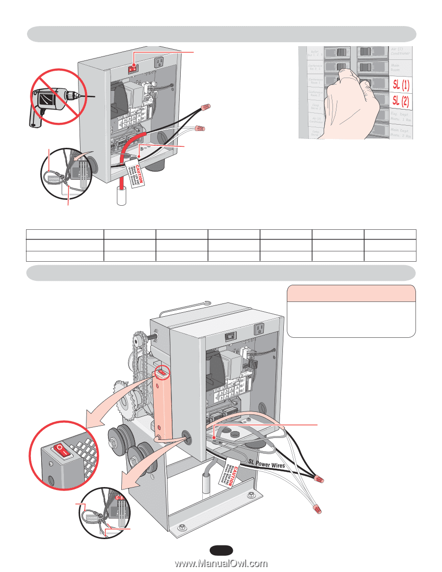 Liftmaster Sl3000ul Manual Page 17 Sl 3000 Ul Wiring Diagram Connect The Black White And Ground
