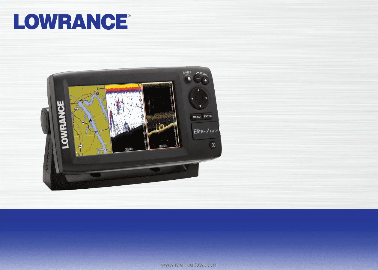 Lowrance Elite-7 HDI   Operation Manual
