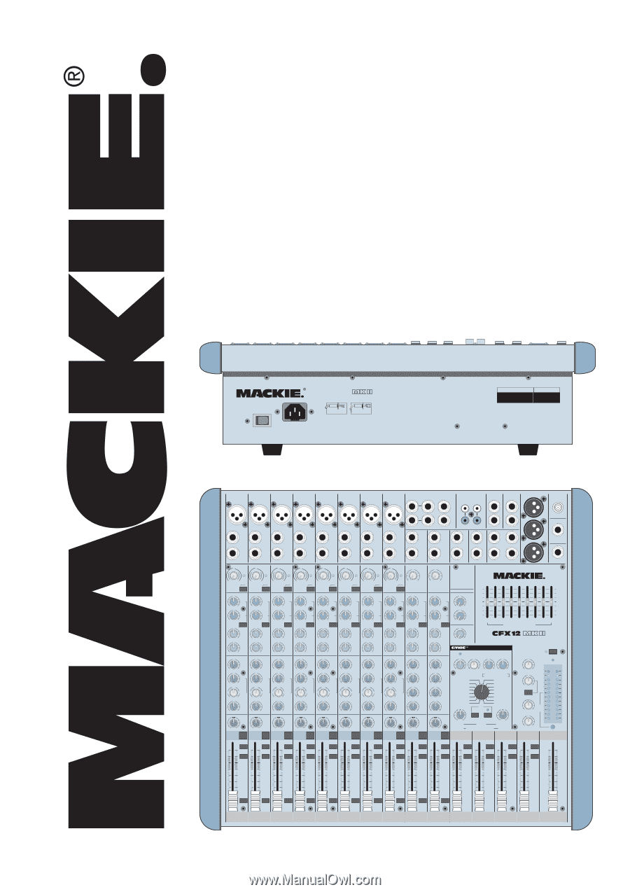 Mackie CFX20.mkII | Owner's Manual on