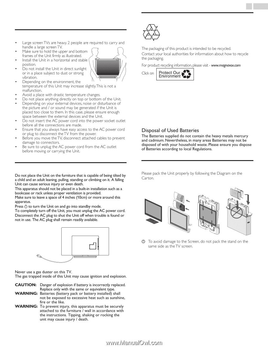 Magnavox 55me314v Owners Manual English Plug Wiring Diagram 2 Important