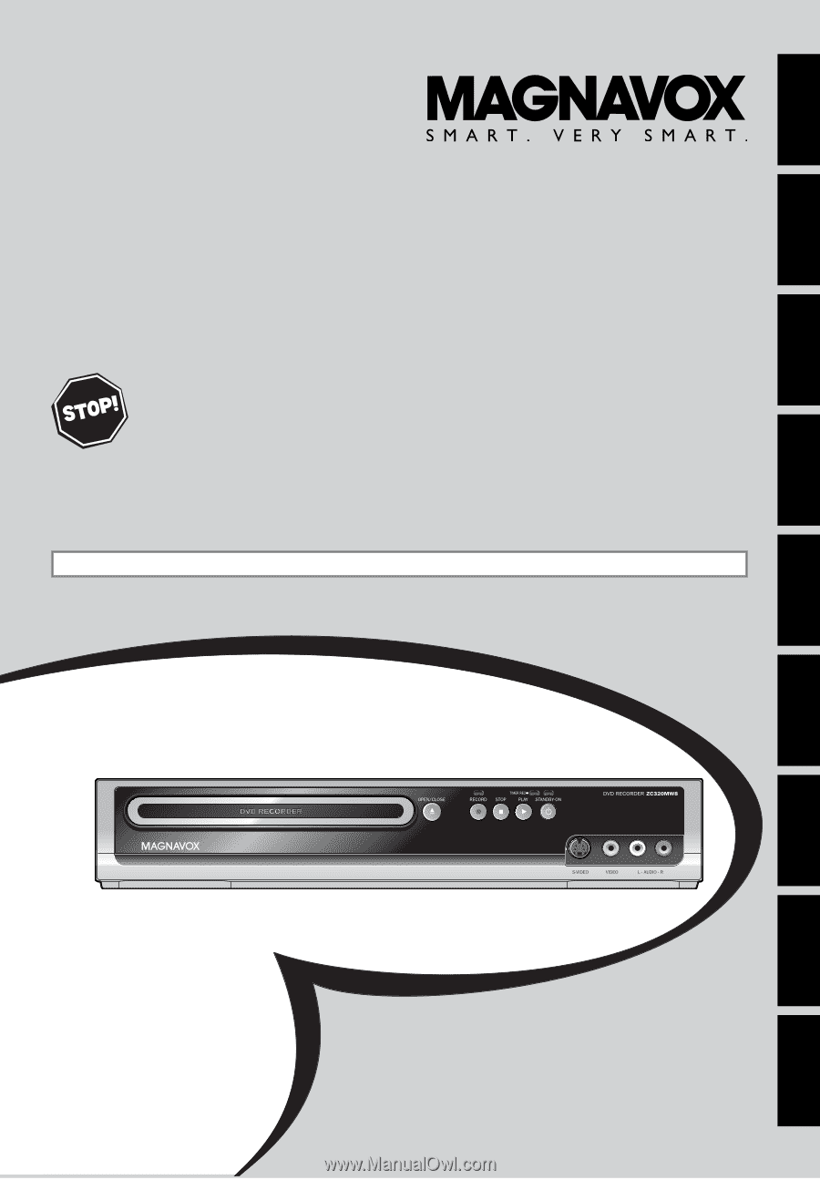 magnavox zc320mw8 dvd recorder with tv tuner manual rh manualowl com Walmart DVD Recorder with Tuner Toshiba DR430 DVD Recorder Walmart