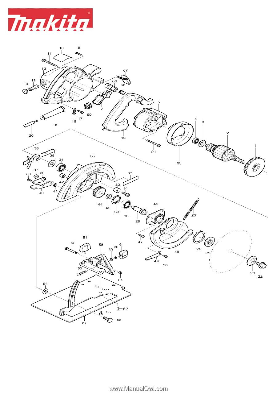 Makita 5007F | Parts Breakdown