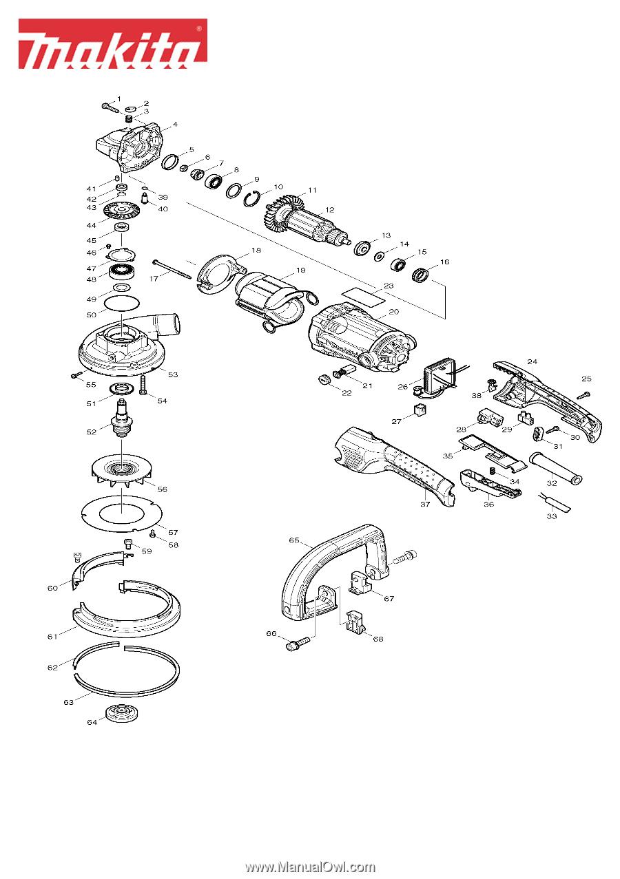 Makita PC5000C | Parts Breakdown