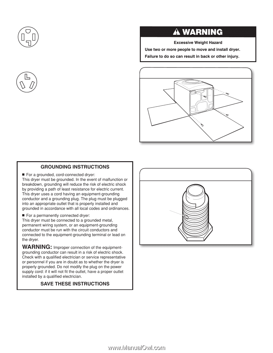 Maytag Med3000bw Installation Guide Dryer Plug Wiring Receptacle 6