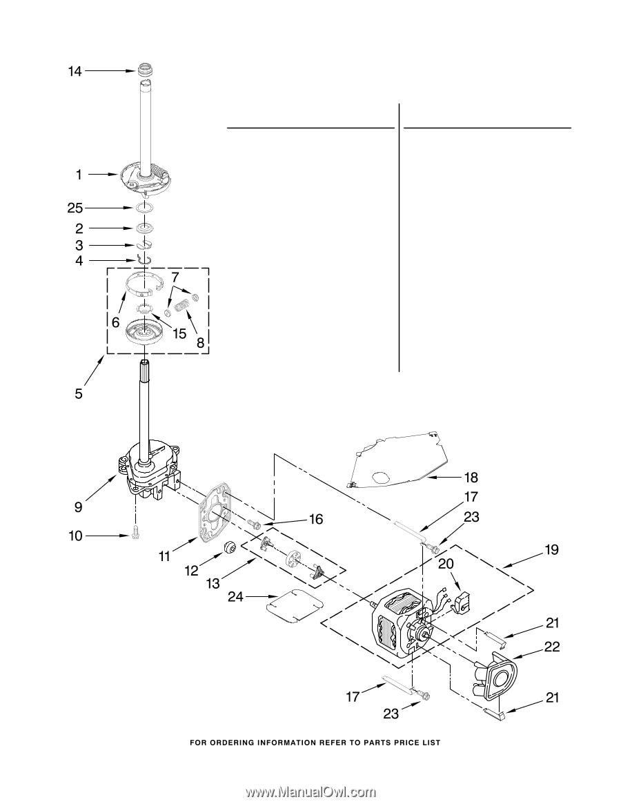 Maytag Mvwc700vj Parts Diagram Wiring Harness Clip 90016 Brake Clutch Gearcase Motor And Pump