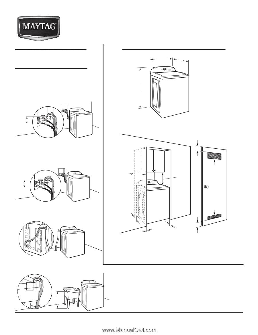 Maytag Mvwc300xw Dimension Guide