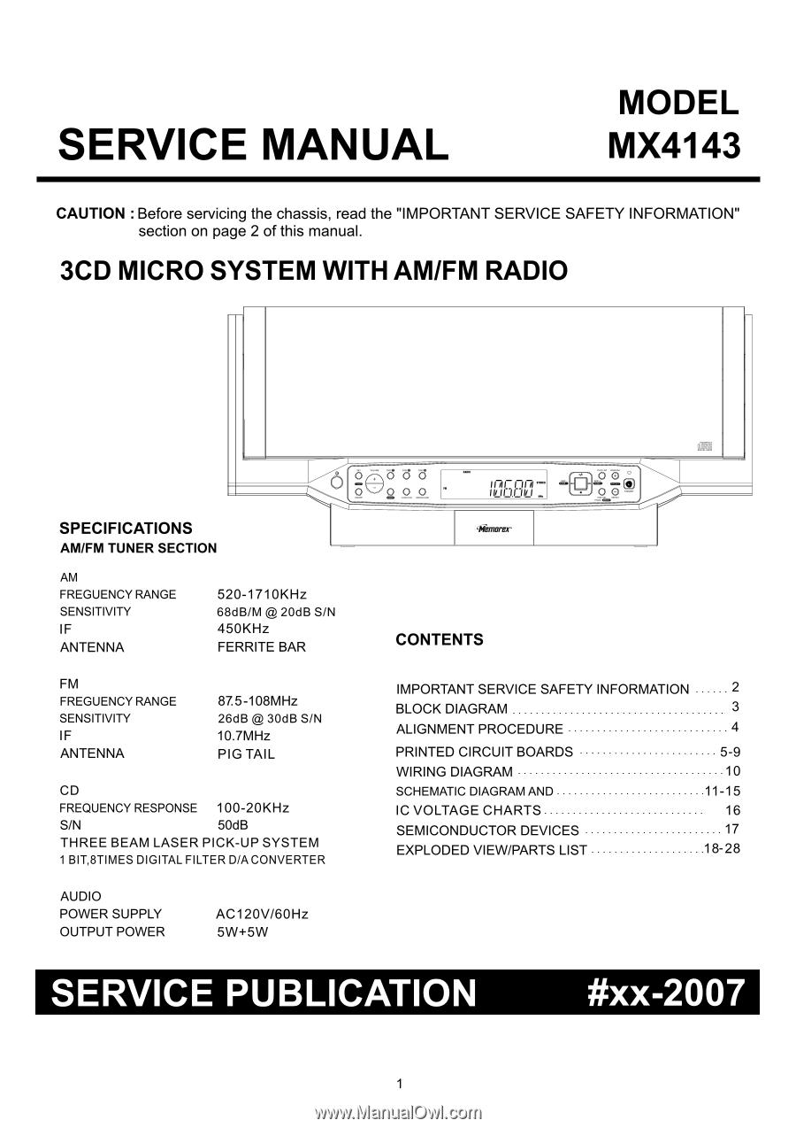 ... Array - memorex mx4143 service manual rh manualowl com