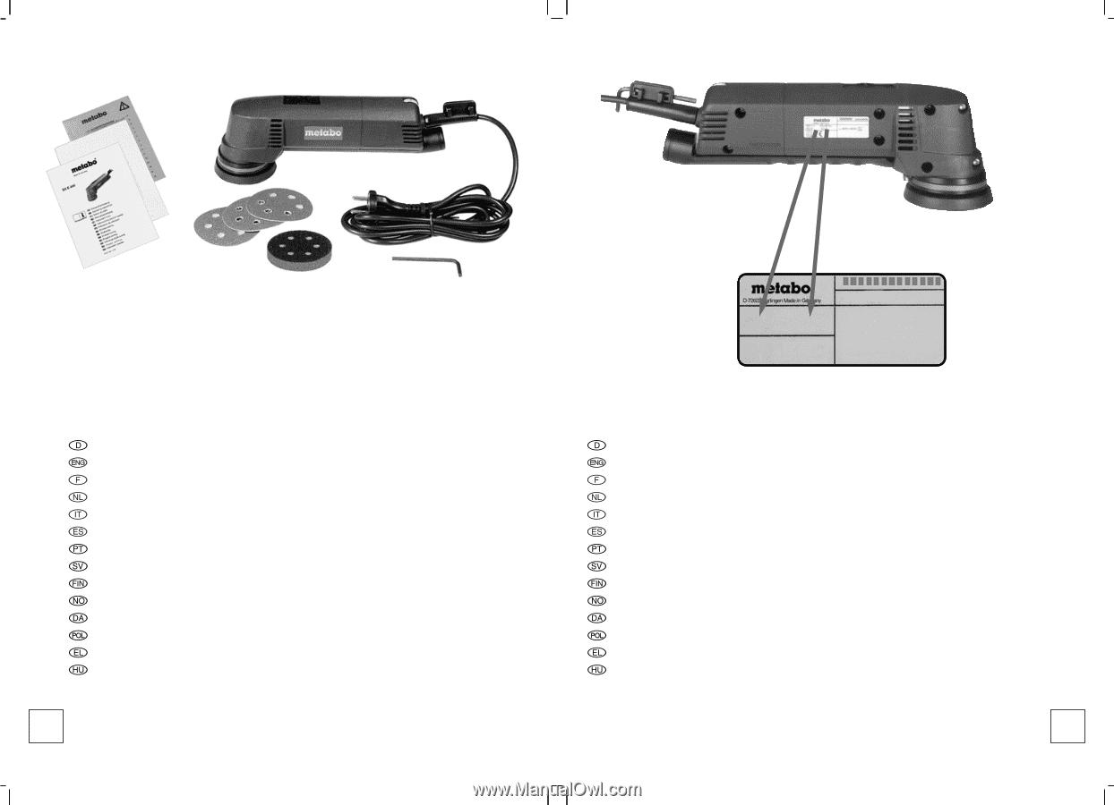 Metabo Stützteller 80 mm gelocht /(SXE 400// SX E 400/)