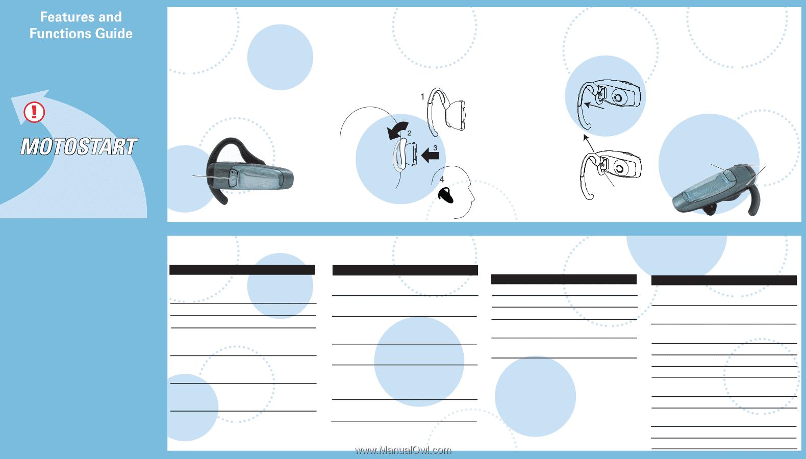 motorola h300 user manual rh manualowl com Motorola Bluetooth Headset Wireless Sony HCD H300