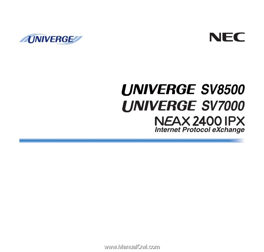 NEC DTL-6DE-1 | User Manual