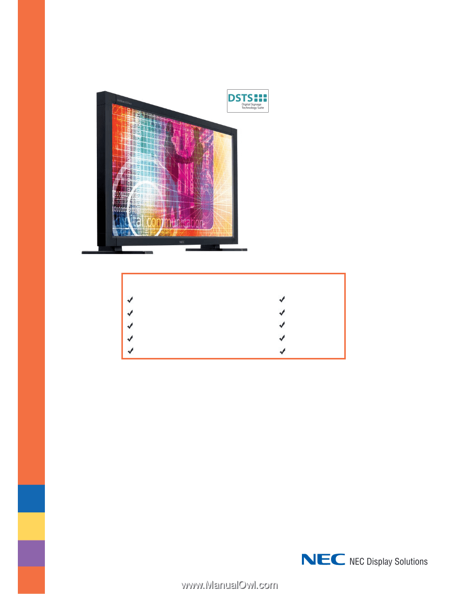 nec lcd4010 bk lcd4010 brochure rh manualowl com Example User Guide Example User Guide