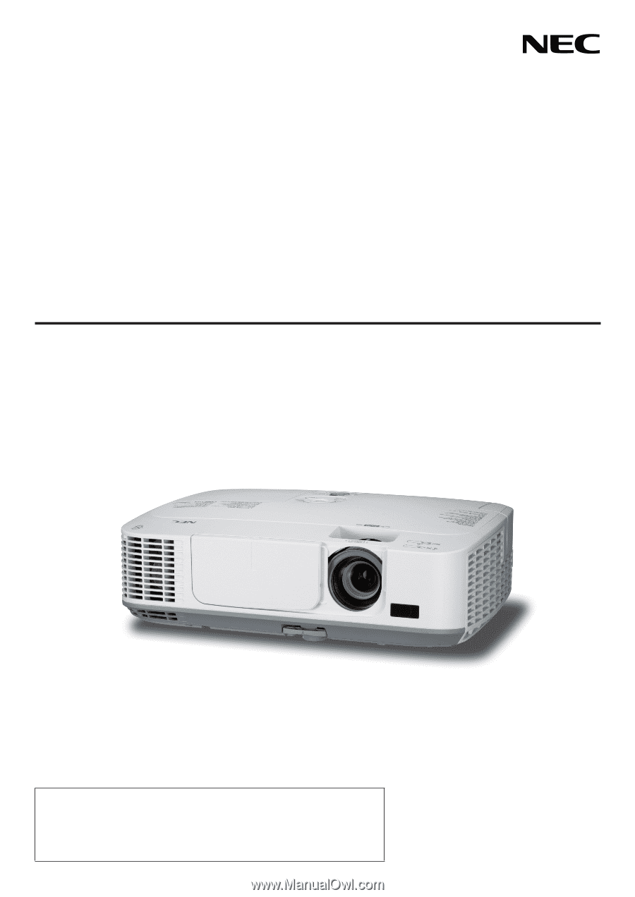 nec m300w manual how to and user guide instructions u2022 rh taxibermuda co M300WS NP Short Throw Projector