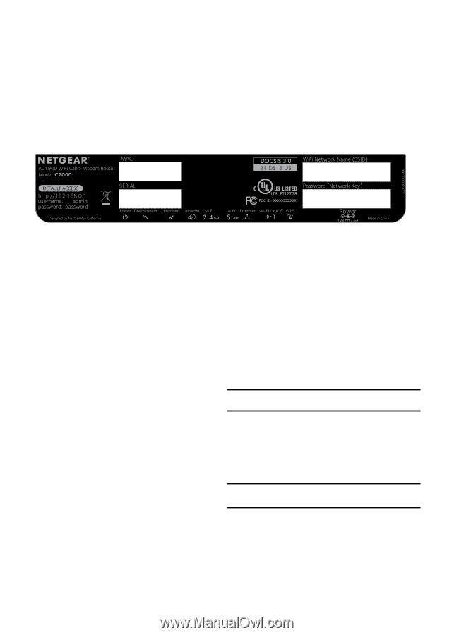 Netgear C7000 | Installation Guide - Page 11
