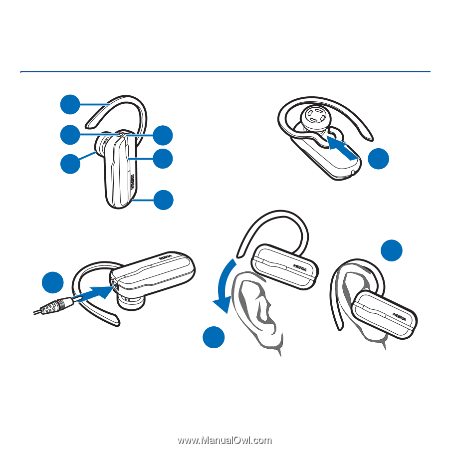 Nokia bh-112 bluetooth headset black.