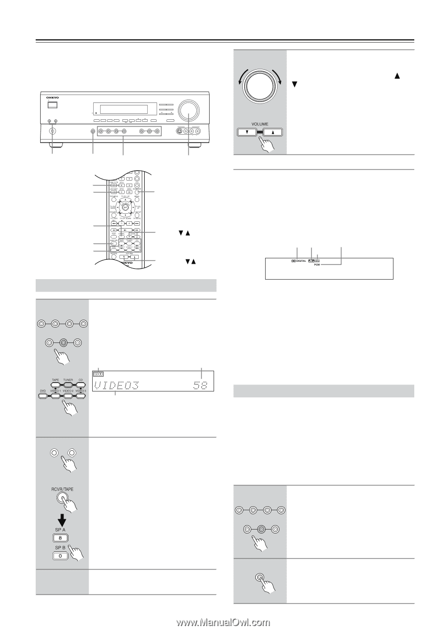 Onkyo TX SR501 | Owner Manual - Page 19