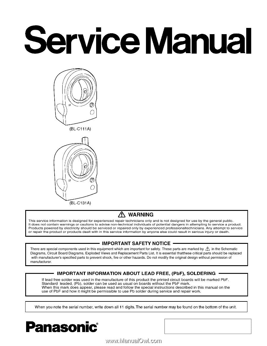 Rxp Service Manual E550 Ford E 150 Wiring Diagram Manuals Array Panasonic Bl C111a Rh Manualowl Com