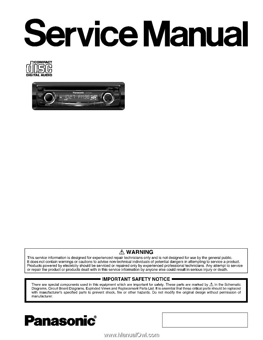 Panasonic Cqc1103u