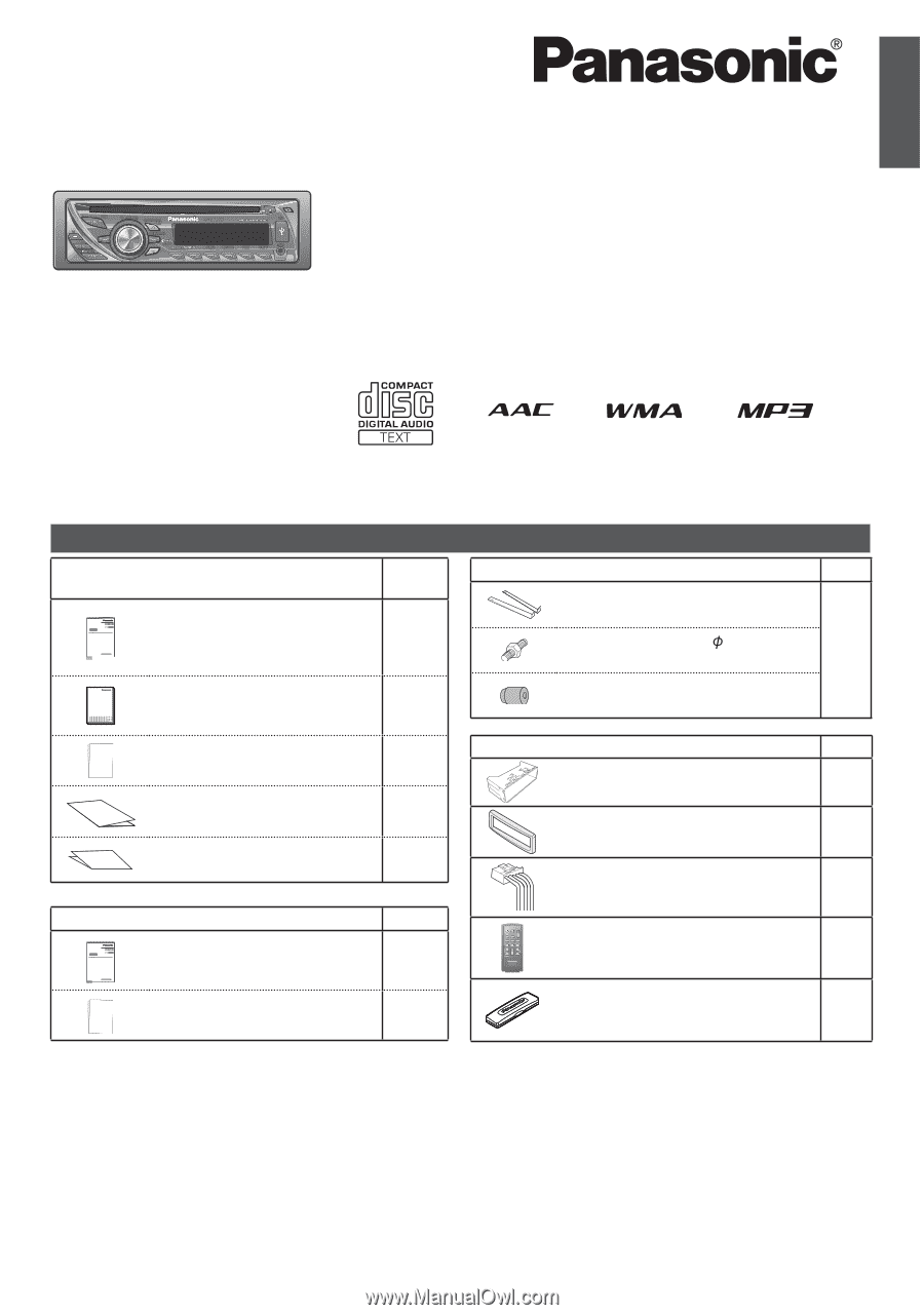 Panasonic CQRX200U | CQRX100U User GuideManual Owl