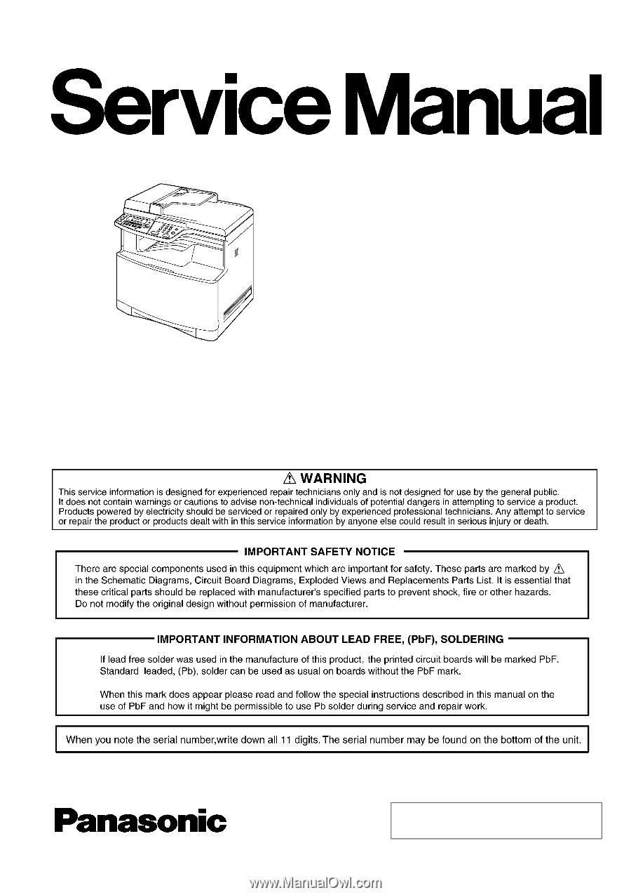 Panasonic Kx Mc6020 Service Manual Washing Machine Wiring Diagram Pdf Communications Co Ltd 2008 Unau