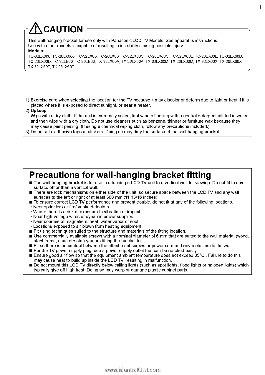 panasonic ty wk32lr2w service manual page 3 rh manualowl com User Guide Template Word Manual Guide