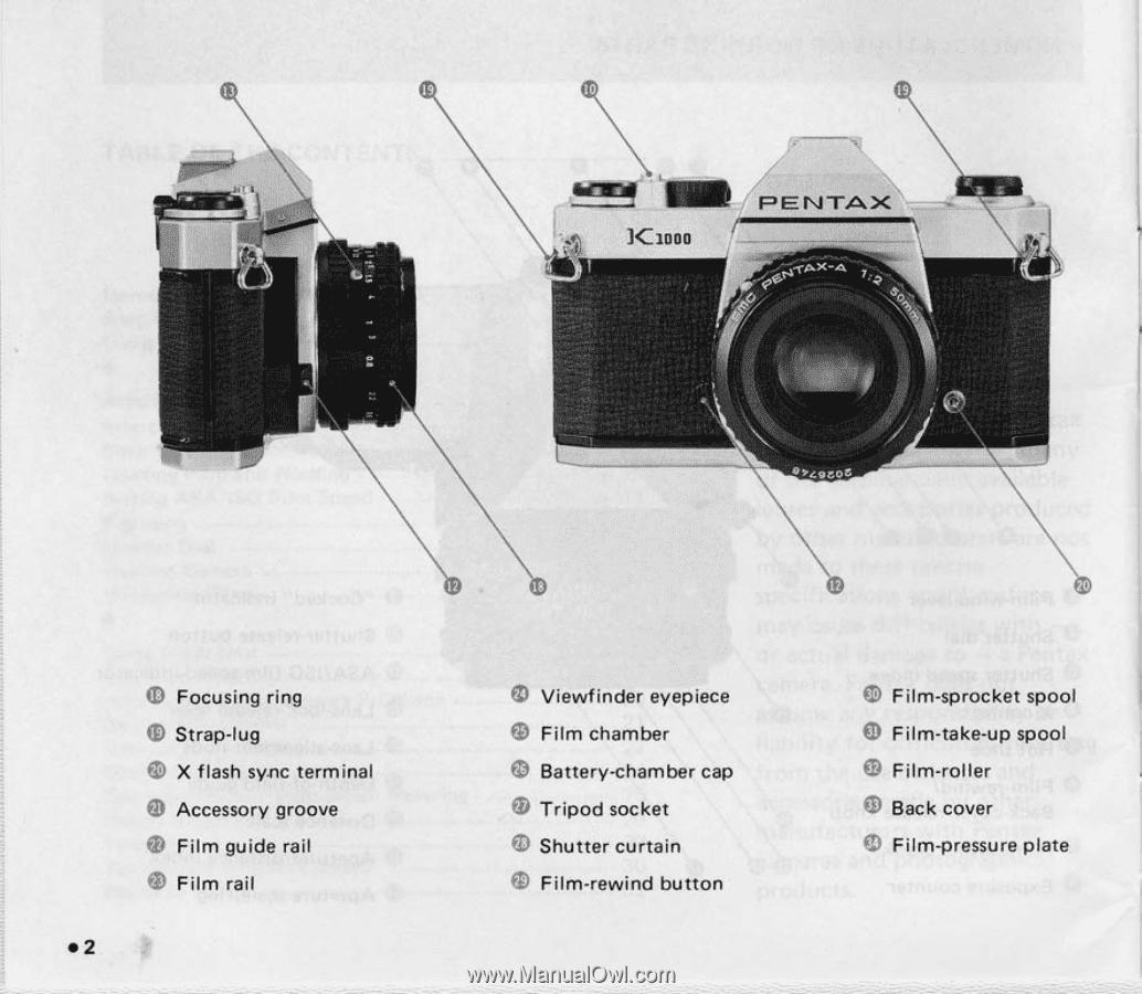 pentax k1000 se manual product user guide instruction u2022 rh testdpc co pentax k1000 service manual Photography Pentax K1000