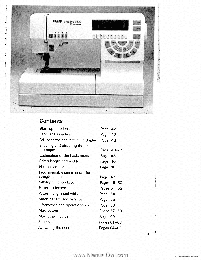 explanation  pfaff creative 7570  owner's manual page 45