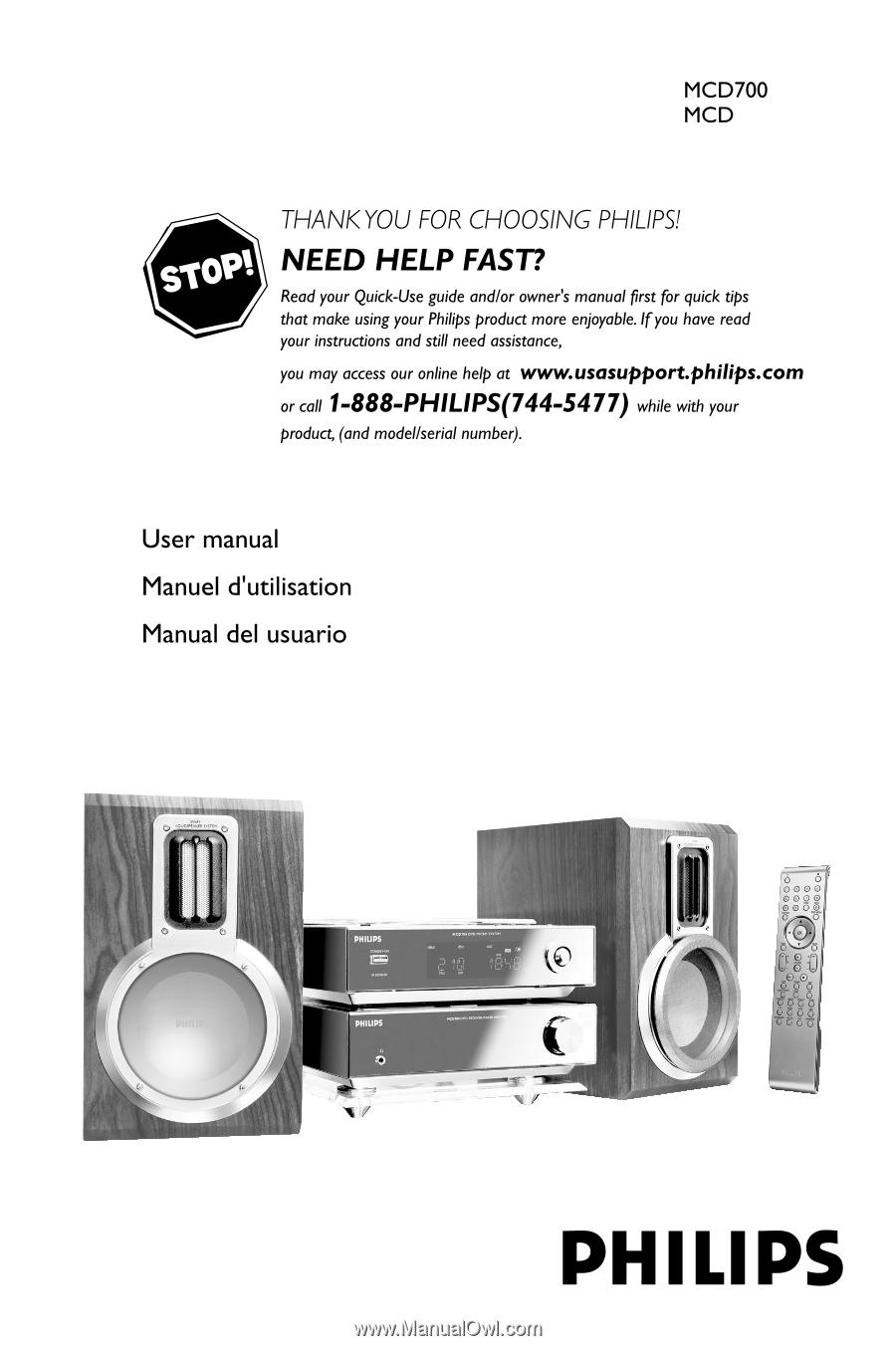 philips mcd702 user manual rh manualowl com Philips Electronics Manuals Philips Universal Remote Code Manual